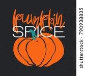 hand drawn autumn poster  ... | Shutterstock . vector #790938835