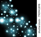 star way with sparkles on black ... | Shutterstock .eps vector #790941898