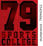 sport college training... | Shutterstock .eps vector #790942912