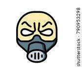 horror emojis   gas mask man  | Shutterstock .eps vector #790953298