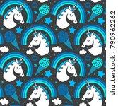 Seamless Pattern With Unicorn...