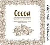 cocoa beans illustration.... | Shutterstock .eps vector #790963555