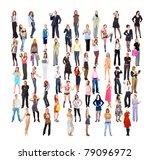 diversity big crowd concept   Shutterstock . vector #79096972