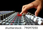 Hand On A Mixer  Operating The...