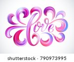love word hand drawn lettering. ... | Shutterstock .eps vector #790973995