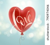 valentines day card with love... | Shutterstock .eps vector #790974046