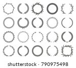 collection of different black... | Shutterstock .eps vector #790975498