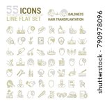 vector graphic set. icons in... | Shutterstock .eps vector #790978096
