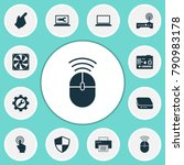 gadget icons set with defense ... | Shutterstock . vector #790983178