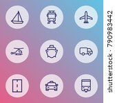 transport icons line style set... | Shutterstock . vector #790983442