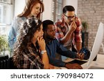 young group of designers... | Shutterstock . vector #790984072