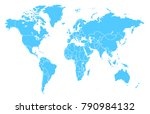 world map vector | Shutterstock .eps vector #790984132