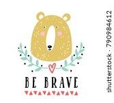 vector card with cute bear.... | Shutterstock .eps vector #790984612