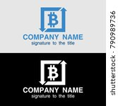 bitcoin concept. cryptocurrency ...   Shutterstock .eps vector #790989736
