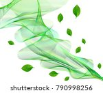 abstract eco green transparent ... | Shutterstock .eps vector #790998256
