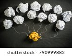 crumpled paper symbolizing... | Shutterstock . vector #790999882