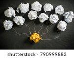 crumpled paper symbolizing...   Shutterstock . vector #790999882