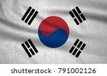 textured flag of south korea. | Shutterstock . vector #791002126