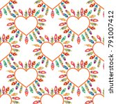 hearts seamless pattern.... | Shutterstock .eps vector #791007412