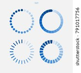 loading symbol set. abstract... | Shutterstock .eps vector #791017756