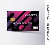 modern credit card template...   Shutterstock .eps vector #791023996
