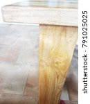 the wood a d the cement floor... | Shutterstock . vector #791025025