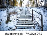 ascending ladder for ascent and ... | Shutterstock . vector #791026072