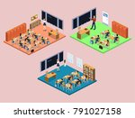 isometric 3d vector... | Shutterstock .eps vector #791027158