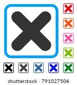 cancel icon. flat grey... | Shutterstock .eps vector #791027506
