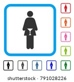 wc woman icon. flat gray... | Shutterstock .eps vector #791028226