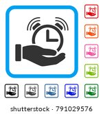 alarm service icon. flat gray...