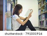 student serious in reading... | Shutterstock . vector #791031916