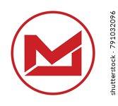 ml letter logo   Shutterstock .eps vector #791032096