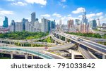 road junction and modern... | Shutterstock . vector #791033842