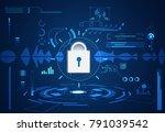 abstract technology ui... | Shutterstock .eps vector #791039542
