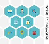 set of realestate icons flat...   Shutterstock .eps vector #791061652