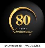 80 years anniversary... | Shutterstock .eps vector #791063266