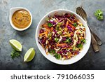 asian cole slaw with sesame and ...   Shutterstock . vector #791066035