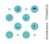 set of melody icons flat style... | Shutterstock .eps vector #791066512
