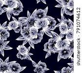 abstract elegance seamless... | Shutterstock . vector #791074612