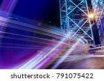 double exposure with traffic... | Shutterstock . vector #791075422
