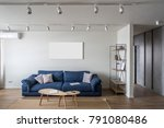contemporary interior with... | Shutterstock . vector #791080486