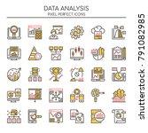 data analysis   thin line and... | Shutterstock .eps vector #791082985
