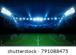 football arena field with... | Shutterstock .eps vector #791088475