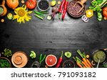 organic food. fresh vegetables .... | Shutterstock . vector #791093182