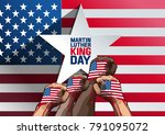 martin luther king day. vector... | Shutterstock .eps vector #791095072
