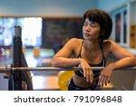 portrait of young beautiful... | Shutterstock . vector #791096848