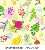 floral seamless pattern | Shutterstock .eps vector #79109704