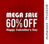 mega sale 60  off banner  | Shutterstock .eps vector #791103148