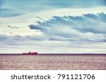 color toned picture of a ship ... | Shutterstock . vector #791121706